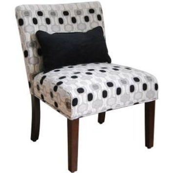 Contemporary Accent Chair with Pillow Great for Any Room