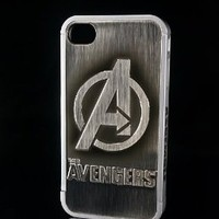 86hero Marvel Avengers 3d Silver Iphone Case Cover for Iphone4 and 4s, Avengers Logo