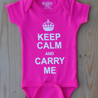 Keep Calm & Carry Me Onesuit