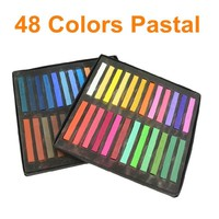 48 Colors Soft Pastel Stick MASTERS PASTEL Art Supplies Popular & Temporary Color Hair Chalk articulos de papeleria