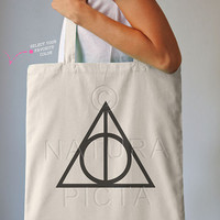 Deathly hallows always Harry Potter tote bag-Always bag-Harry Potter bag-quote tote-tote bag-deathly hallows bag-NATURA PICTA NPTB033