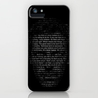 House MD Quotes Print (It's never lupus) iPhone Case by Olechka | Society6
