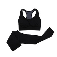 2pcs Women Yoga Sports Seamless Sports Bra+Pants Leggings Set Yoga Fitness Running Training Exercise Tracksuit