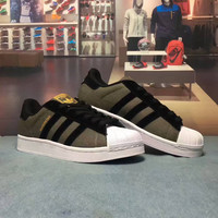 """Adidas Superstar"" Fashion Casual Multicolor Unisex Sneakers Couple Shell Head Plate Shoes"