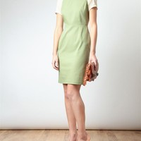 ACNE   'Lucille' Denim and Chiffon Dress   Browns fashion & designer clothes & clothing