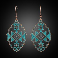 2018 New Trendy Fashion Bohemian Boho Ethnic Antique Metal Drop Earrings Hanging Dangle for Women Wedding Jewelry Accessories