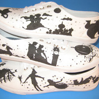 Custom Made Disney Silhouette Shoes by BRINKADINK on Etsy