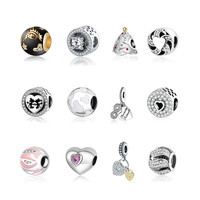Silver Beads Fit Pandora Charms Bracelets Original 925 Sterling Silver Charm Pendant 2016 Autumn Winter Collection Beads Jewlry