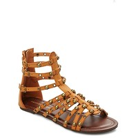 Metallic Studded Gladiator Sandal by Wild Diva