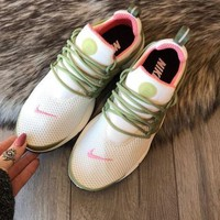 Nike Air Presto Fashion Woman Men Personality Running Sneakers Sport Shoes White Green Pink Hook I