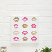 Marilyn's Kiss Canvas Art