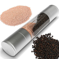 High Quality Cooking Tools 2 IN 1 Spice Salt & Pepper Mill Premium Salt Shaker Spice Herb Pepper Grinder Mill