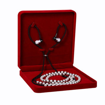 Fashion Wear Necklace Headphones