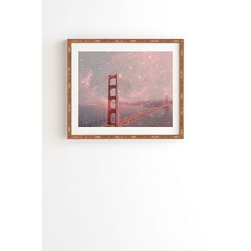 Bianca Green Stardust Covering San Francisco Framed Wall Art