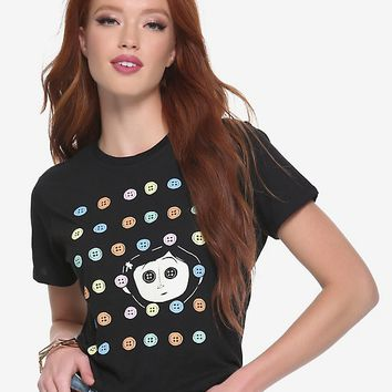 Coraline Buttons Womens Tee - BoxLunch Exclusive