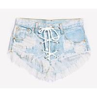 Rodeo Lace Up Stoner Babe Shorts