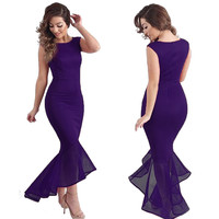 Sexy Women Evening Party Ball Prom Gown Formal Cocktail Wedding Maxi Long Dress Sleeveless