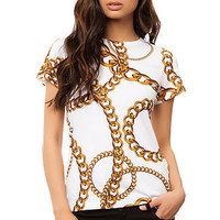 The Chains Tee in White