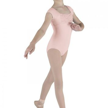 Pinch Pleat Cap Sleeve Leotard M569C by Mirella