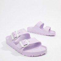 Birkenstock Arizona Eva Lilac Flat Sandals at asos.com