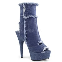 "Delight 1030 Stretch Denim 6"" High Heel Ankle Boots"
