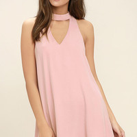Groove Thing Blush Pink Swing Dress