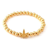 The Gold Weed Bracelet by Snoop Dogg