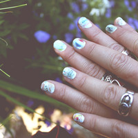 Road Map Nails Inspired By Roshambo: Paper-Scissors - Free People Blog