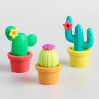 Prickly Pals Cactus Erasers Set of 2