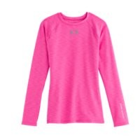 Under Armour Girls' ColdGear Fitted Long Sleeve Crew