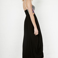 DailyLook: Mara Hoffman Embroidered Maxi Dress in Black XS - M