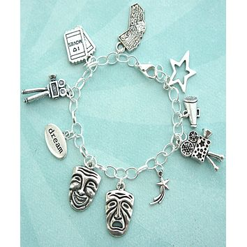 Theater Actor Charm Bracelet