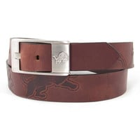 Detroit Lions NFL Men's Embossed Leather Belt (Size 40)