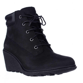 Timberland Earthkeepers Amston Wedge Ankle Boots - Black