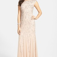 Women's Adrianna Papell Embellished Mermaid Gown