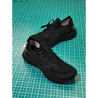 Nike Epic React Flyknit ID Triple Black Sport Running Shoes