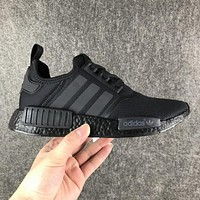 Adidas NMD R1 Triple Core Black S31508 Boost Sport Running Shoes Classic Casual Shoes Sneakers