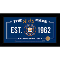Houston Astros 10x20 Kids Cave Sign w Game Used Dirt from Minute Maid Park