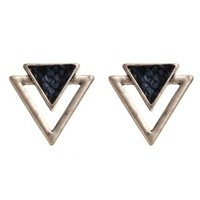 New Look Mobile | Gold Triangle Snake Effect Stud Earrings