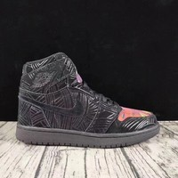AIR JORDAN 1 LOS PRIMEROS AJ1 Graffiti Laser BLACK
