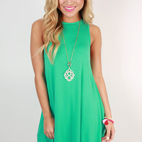 The Lola Tank Dress in Turquoise