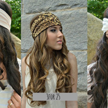 3 for 25 Head Wrap, Aztec floral hippie Head Band