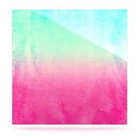 "Monika Strigel ""Sunny Melon"" Aqua Magenta Luxe Square Panel"