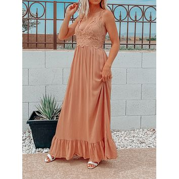 SOMETHING TO ADMIRE DRESS IN MOCHA