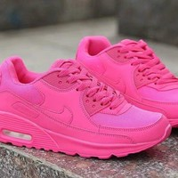 """Nike Air Max 90"" Women Sport Casual Solid Color Air Cushion Sneakers Fashion Running Shoes"