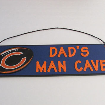 Chicago Bears Football Dad's Man Cave Sign - Father's Day - Personalized Kids Room Decor