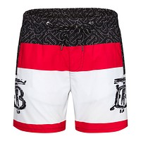 Burberry Beach Shorts Contrast Double B print Green Red