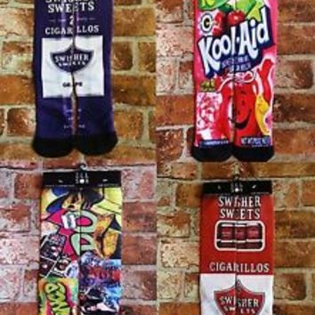 ODD SOX style  *ILL SOX* Sublimated Elite Socks  Kobe Lebron KD Rare Elite Socks