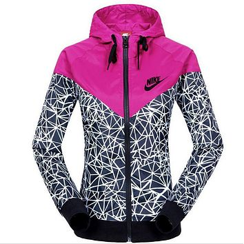 """NIKE""Fashion Hooded Sweatshirt Zipper Cardigan Coat Jacket"