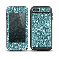 The Abstract Blue Feather Paisley Skin for the iPod Touch 5th Generation frē LifeProof Case